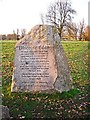 NY4156 : 'Discover Eden' inscribed stone by Rose and Trev Clough