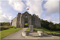 SS6188 : Oystermouth Castle by Mel hartshorn