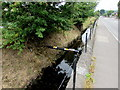 ST1671 : Small bore pipe over East Brook, Dinas Powys by Jaggery