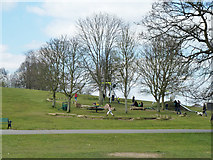 TQ2794 : Play area, Oak Hill Park by Robin Webster