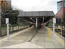 SD8010 : Bury Interchange railway station (site) / Metrolink tramstop, Lancashire by Nigel Thompson