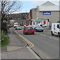 SS8591 : National Cycle Network Route 885 in the centre of Maesteg by Jaggery