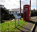 SS8588 : Grade II listed red phonebox, Llangynwyd by Jaggery