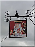 TM0890 : Hanging sign for the King's Head at New Buckenham by Adrian S Pye