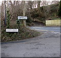 SS8589 : Bilingual street name sign near the Cwmfelin boundary by Jaggery