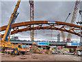 SJ8297 : Ordsall Chord, Construction of New Rail Bridge (Feb 2017) by David Dixon