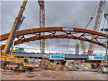 SJ8297 : Ordsall Chord, Construction of New Rail Bridge (Feb 2017) by David Dixon