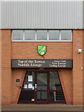 TG2407 : Carrow Road: entrance to the Norfolk Lounge by Stephen McKay