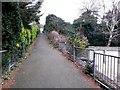 SZ0993 : Charminster: ascending footpath K01 by Chris Downer