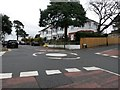 SZ1093 : Queen's Park: mini-roundabout on Howard Road by Chris Downer