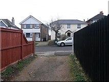 SZ0894 : Winton: footpath L01 arrives at Midland Road by Chris Downer