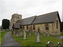SU8441 : St Mary's Church at Frensham by Peter Wood
