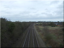 SP4795 : Railway towards Leicester by JThomas