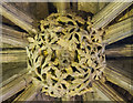 SO9445 : Roof boss, Pershore Abbey by J.Hannan-Briggs