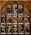 SO9445 : Stained glass window, Pershore Abbey by Julian P Guffogg