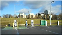 NS5566 : Charging point for electric cars by Richard Sutcliffe