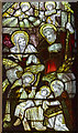 SO9445 : Stained glass window detail, Pershore Abbey by J.Hannan-Briggs