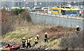 J3675 : Rescue exercise, Belfast City Airport (March 2017) by Albert Bridge