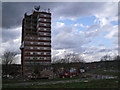 SJ9894 : Hattersley multi-storey flats demolition by Stephen Burton