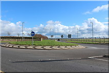 NS3428 : Roundabout on Station Road, Monkton by Billy McCrorie