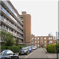 TQ3277 : East side of Horsman House, Goschen Estate, Camberwell, south London by Robin Stott