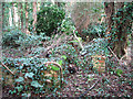 TG2004 : WW2 remains of a military hut by Evelyn Simak