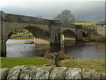 SE0361 : Burnsall Bridge (from the east) by Carroll Pierce
