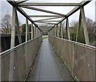 SK5802 : Footbridge across the Midland Main Line by Mat Fascione