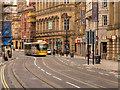 SJ8398 : Cross Street, Metrolink Second City Crossing by David Dixon