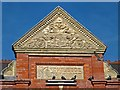 ST3186 : Pediment on the former Pillgwenlly Library, Newport by Robin Drayton