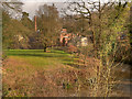 SJ8382 : Quarry Bank Mill, Mill Meadow and River Bollin by David Dixon