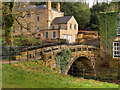SJ8383 : Quarry Bank House and Stone Footbridge by David Dixon