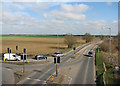 TL4762 : Milton: Butt Lane junction on the A10 by John Sutton