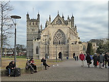 SX9292 : Exeter Cathedral on New Year's Eve by Chris Allen