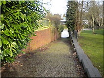 SP3265 : Slipway to the River Leam, Leamington Spa by Richard Vince