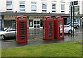 SP3166 : Three phone boxes, Clarendon Avenue by Alan Murray-Rust