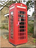 NZ2289 : Public telephone box, Longhirst by Graham Robson