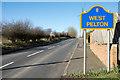 NZ2352 : Sign beside road entering West Pelton by Trevor Littlewood