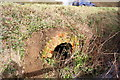 SP8526 : Culvert for ditch under Soulbury Road by Roger Templeman
