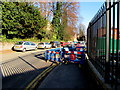 ST3088 : Devon Place footway closed, Newport by Jaggery