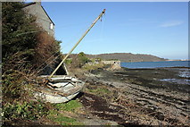 SH5873 : Beached Dinghy at Bangor by Jeff Buck