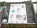 SP9113 : Noticeboard at Tringford Reservoir by David Hillas