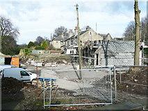 SE1421 : Houses under construction, Ogden Lane / Rastrick Common, Rzastrick by Humphrey Bolton