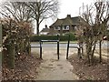 SJ8544 : Newcastle-under-Lyme: footpath emerging onto Buckmaster Avenue by Jonathan Hutchins