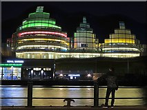 NZ2563 : The Sage at night, from Newcastle Quayside by Andrew Curtis