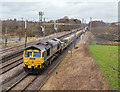 NY3662 : Departmental trains at Blackrigg - March 2017 (2) by The Carlisle Kid