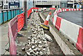 J3474 : Roadworks, Queen Elizabeth Bridge, Belfast (March 2017) by Albert Bridge