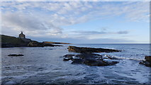 NU2617 : Looking north up the coast near the Bathing House by Clive Nicholson