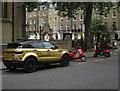 TQ2879 : Gold Range Rover, Wilton Place by Hugh Venables