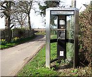 TM0591 : KX300 telephone box in Fen Street by Evelyn Simak